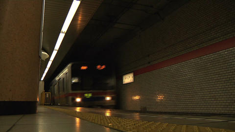 Tokyo Subway 01 Footage