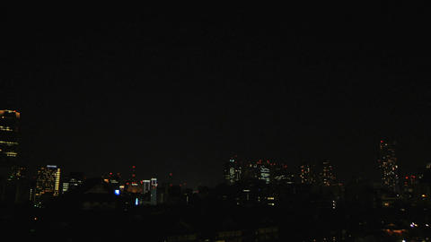Tokyo Tower And City At Night stock footage