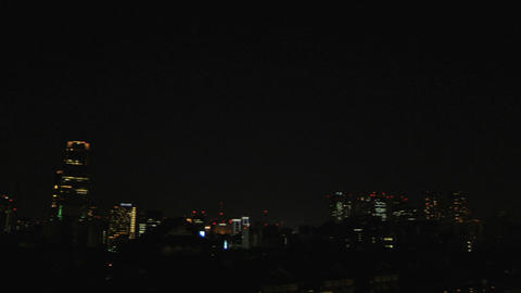 Tokyo Tower and City At Night Stock Video Footage