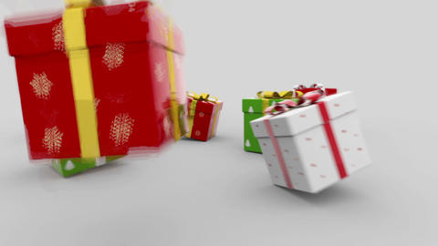 Gift boxes Stock Video Footage