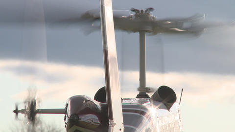 rotors on a helicopter Stock Video Footage