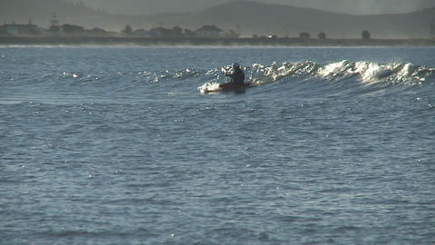 canoe in surf Stock Video Footage