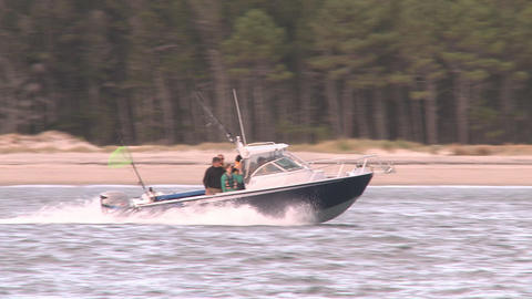 two speeding boats Stock Video Footage