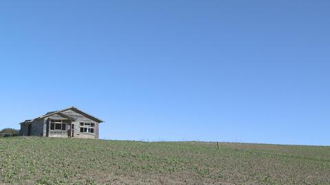old farmhouse plus sky Stock Video Footage