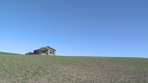 old farmhouse plus sky Stock Video Footage