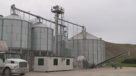 grain silo pan Footage