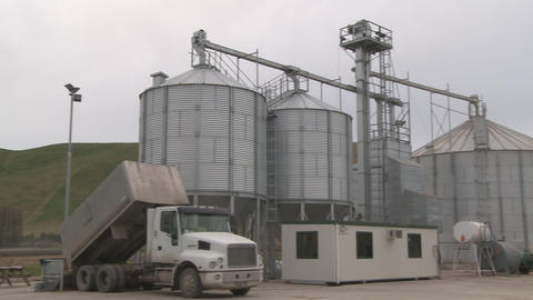 grain silo pan Stock Video Footage