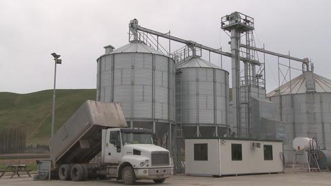 grain silo pan Stock Video Footage