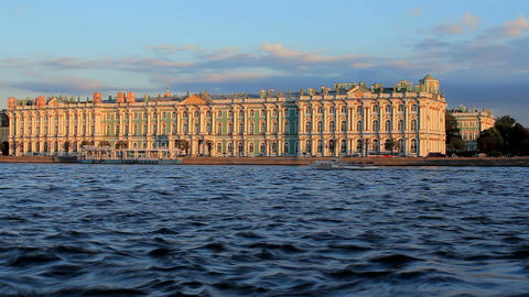 Winter Palace (time-lapse) Stock Video Footage