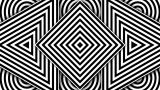 Hypnotic Black And White Shapes stock footage