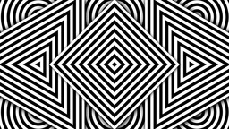 Hypnotic Black and White Shapes Animación
