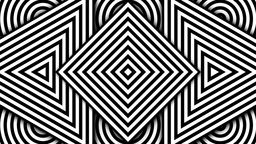 Hypnotic Black and White Shapes Stock Video Footage