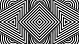 Hypnotic Black And White Shapes, NTSC stock footage