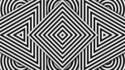 Hypnotic Black and White Shapes Animation