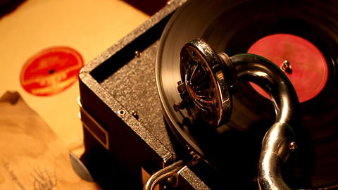 PHONOGRAPH Stock Video Footage