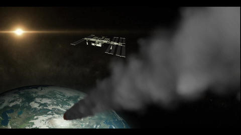 Comet Impact Stock Video Footage