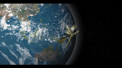 Satellite Orbitting Earth Animation