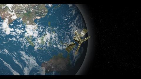 Satellite Orbitting Earth Stock Video Footage