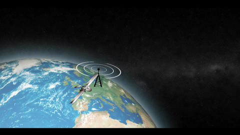 satellite Radar Stock Video Footage
