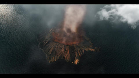 volcanic island Stock Video Footage