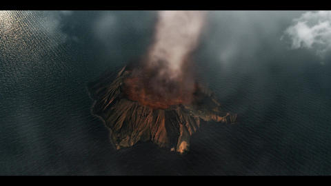 volcanic island Animation