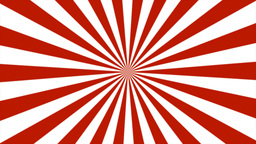 Zigzag Red and White Sunburst, Loop Stock Video Footage