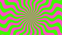 Zigzag Purple-Green Sunburst, Loop Animation