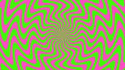 Zigzag Purple-Green Sunburst, Loop Stock Video Footage