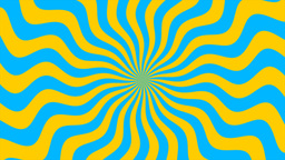Zigzag Yellow-Blue Sunburst, Loop Animation