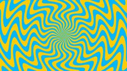 Zigzag Yellow-Blue Sunburst, Loop Stock Video Footage