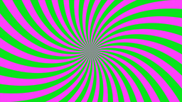 Sunburst, curved lines, pink and green Animation