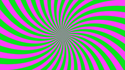 Sunburst, curved lines, pink and green Stock Video Footage