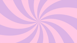 Sunburst, curved lines, pink and violet Animation