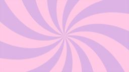 Sunburst, curved lines, pink and violet Animation