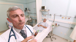 Doctor preparing an injection Footage
