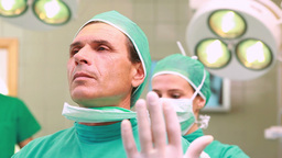 Two Surgeons in an operational theatre Footage