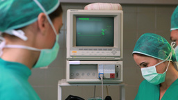 Male surgeon talking with colleagues Footage