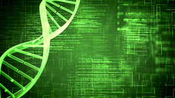 Green DNA Helix with flying text Animation