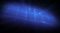 Blue ECG On Digital Background stock footage