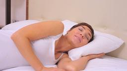 Yawning woman going to sleep Live Action