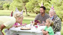 Family celebrating a birthday Footage