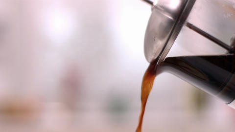 Cafetiere pouring coffee Footage