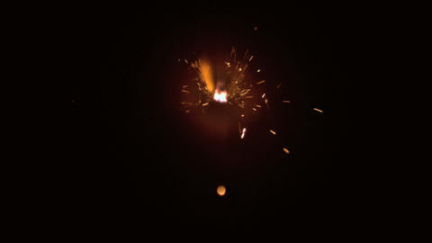 Burning sparkler Footage