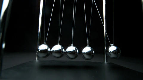 Newtons cradle in motion Footage