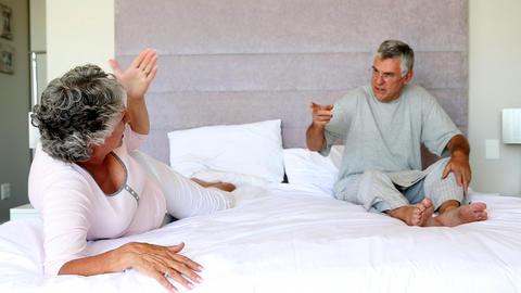 Mature couple having a dispute Footage