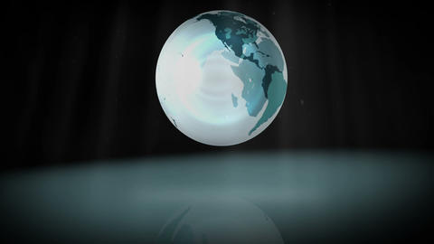 Animation of a spinning globe Animation