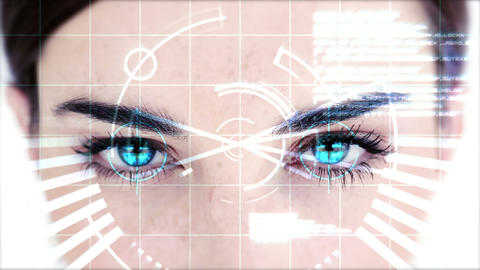 Attractive woman with dial in eyes, Stock Animation