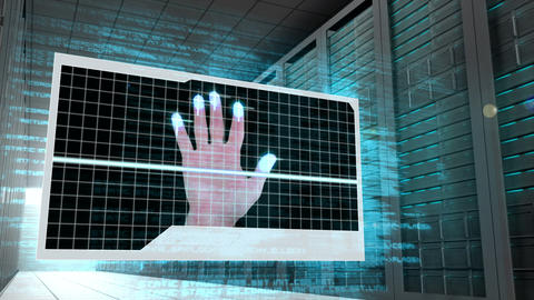 Screen showing futuristic situation Animation