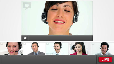 Live chat with customer service agents loading up Animation