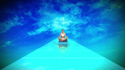 Woman meditating in yoga pose Animation